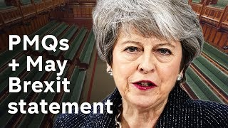 Download PMQs + Theresa May Brexit statement LIVE Video