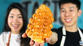 Download We Made Hong Kong's Famous Egg Bubble Waffle •Tasty Video