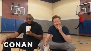Download Conan Plays Horse With Magic Johnson - CONAN on TBS Video