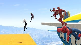 Download WIPEOUT OBSTACLES RUN CHALLENGE! - With All The SUPERHEROES (GTA 5 Funny Contest) Video