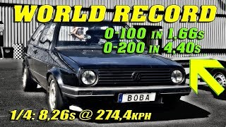 Download QUICKEST GOLF ON EARTH | Boba´s 1233HP Golf Santa Pod Raceway 2018 | New World Record! Video
