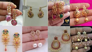 Download Light weight gold earrings design ideas/daily wear simple earrings collection Video
