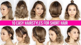 Download 10 Easy Ways To Style Short Hair & Long Bob - Tina Yong Video