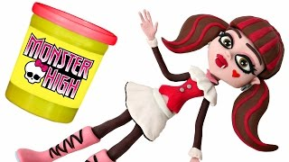Download Monster High Doll Animated STOP MOTION video *** Play doh + Chocolate Surprise Balls Video