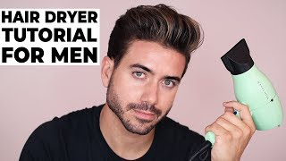 Download HOW TO USE A HAIR DRYER | BLOW DRYER | Men's Hairstyle Tutorial 2018 Video