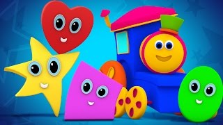 Download Bob The Train | shapes rolling song | original song | the shapes song | nursery rhymes | 3d rhymes Video