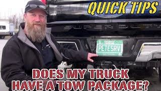 Download Does My Truck Have A Tow Package | Pete's RV Quick Tips Video