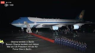 Download Barack Obama landete zum letzten Mal als US-Präsident in Berlin Video