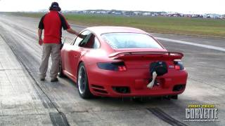 Download 234mph EVOMS twin turbo 997 Porsche - The Texas Mile - March 2011 Video