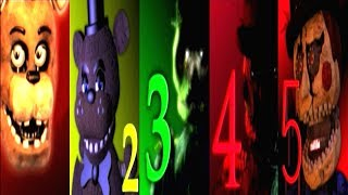 Five Nights at Candy's HISTORY | All Jumpscares 1-3 Free