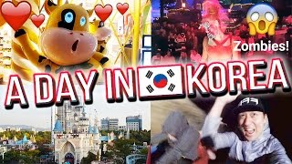 Download Cory's Birthday, Soju Drinks, and Halloween Zombies at Lotte World! - A DAY IN KOREA 🇰🇷 #3 Video