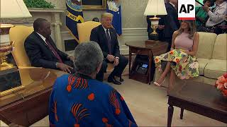Download Trump welcomes Kenya's president to the White House Video