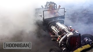 Download [HOONIGAN] DT 059: Fastest Rat Rod in Long Beach (1927 Twin Turbo LS T-Bucket w/Nitrous ) Video