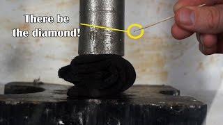 Download Can I Turn Graphite To Real Diamond With Hydraulic Press? (April Fools Joke method in microwave) Video