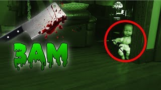 Download (GONE WRONG) 3 AM OVERNIGHT CHALLENGE / ONE MAN HIDE AND SEEK WITH HAUNTED BABY DOLL! (IT CHASED US) Video
