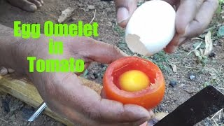 Download How To Cook An Egg Omelette In A Tomato / Rare Recipe / Wild Survival Style / my village food Video
