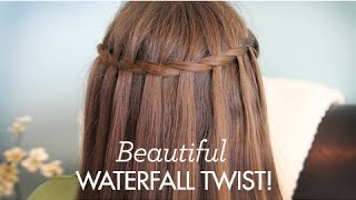 Download Beautiful Waterfall Twist | Cute Girls Hairstyles Video