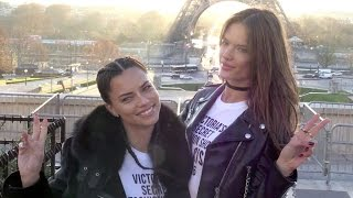 Download Victoria s Secret Adriana Lima, Alessandra Ambrosio and their fellow Angels at the Eiffel Tower Video