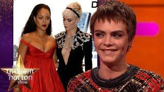 Download Cara Delevingne Couldn't Stop Staring at Rihanna | The Graham Norton Show Video