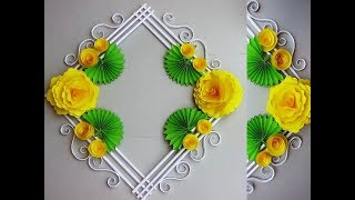Download DIY. Simple Home Decor. Wall, Door Decoration. Hanging Flower. цветы из бумаги. Paper Craft Ideas 9 Video