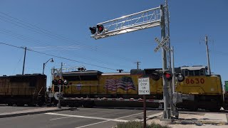 Download UP 8630 Manifest Train North, Florin Rd. Railroad Crossing, Sacramento CA Video