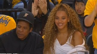Download Beyonce Impressed With Kevin Durant and The Warriors While Sitting Courtside with Jay-Z! Video