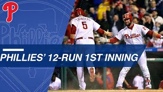Download Phillies erupt for 12 runs in the 1st inning Video