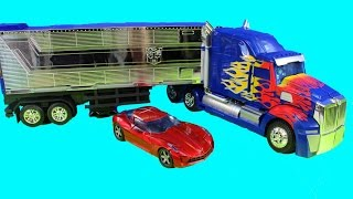 Download Transformers Platinum Edition Optimus Prime With Trailer & Sideswipe Robot Video