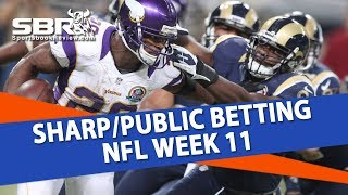 Download Sharp And Public Betting | NFL Week 11 | Into The Weekend with BetDSI Video