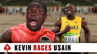 Download Kevin Hart Races Usain Bolt | PokerStars Video