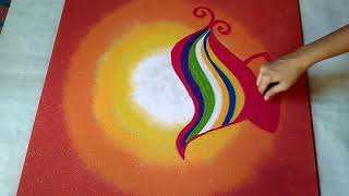 Download Creative दिया Rangoli Design for दीपावली !! दीपावली Special Rangoli Design !! Video