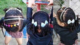 Download Peinado para niña/ trenzas de diadema 2 coleta Video