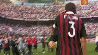 Download AC Milan 2 3 AS Roma + Maldini's end of the match clip HQ 2009 Video