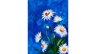 Download Easy DAISY Acrylic painting tutorial with LADYBUG Video