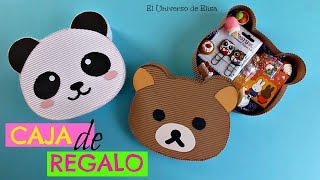 Download Kawaii Diy, Caja de Regalo Osito Panda/Osito Rilakkuma, Kawaii Gift Box, Caja Cartón Corrugado Video