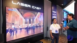Download Hisense VIDAA Max 100″ Laser Cast Short Throw Projector at CES 2016 Video