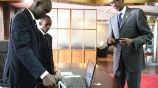 Download PRESIDENT KAGAME PRESENTS NATIONAL ID AT AIRPORT Video