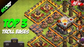 Download Clash Of Clans - TOP 3 TH11 (TOWN HALL 11) Troll Base /Trophy Bases/ Legend League 2017 Video