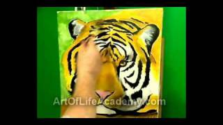 Download Tiger, Oil Painting, Time Lapse Video