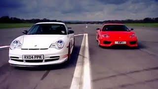 Download Porsche GT3 v Ferrari Car Review - Top Gear - BBC Video