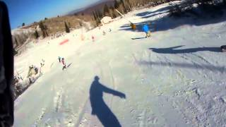 Download Snowboarder smacked by a young skier's parent Video