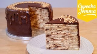 Download How to Make an EPIC Nutella Crepe Pancake Cake! | Cupcake Jemma Video