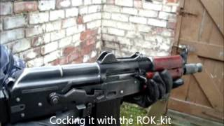 Download Airsoft Gas Blowback AKS-74U Custom Demonstration Video