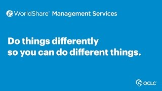 Download OCLC WMS: Doing things differently Video