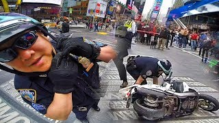 Download NYPD OFFICER CRASHES HIS MOTORCYCLE!! Video