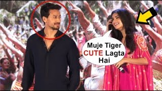 Download Tara Sutaria BLUSHES When Asked About DATING Tiger Shroff At Mumbai Dilli Di Kudiyaan Song Launch Video