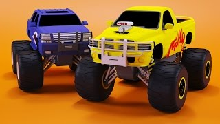 Download Monster Trucks Races Cartoon | Cars for kids | Educational Video for Children by Bambo-Jambo Video