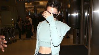 Download Kendall Jenner Shows Off Her Abs At LAX Video