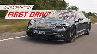 Download Driving the Porsche Taycan Prototype in Stuttgart   MotorWeek First Drive Video