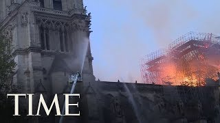 Download Paris Firefighters Release Dramatic Footage Of Their Battle To Save Notre Dame | TIME Video